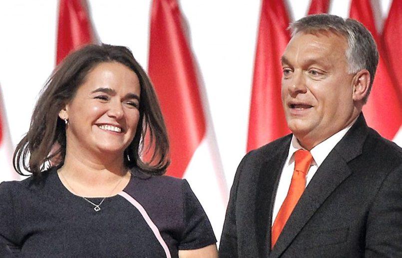 Resultado de imagen de Katalin Novák viktor orban